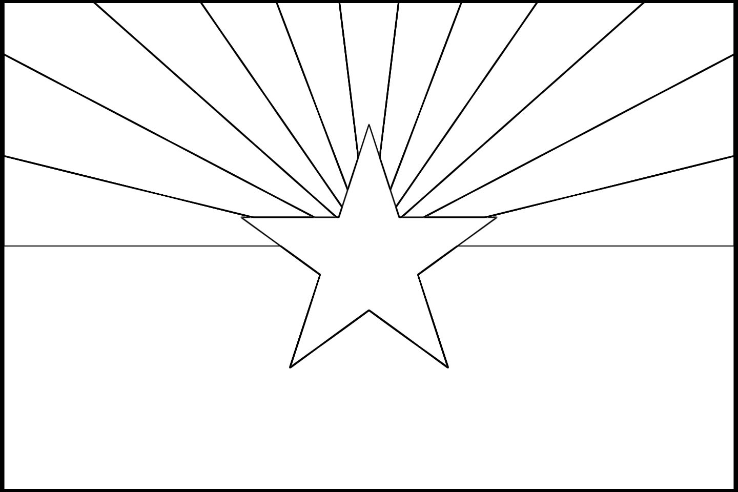 large printable arizona state flag to color from netstate a