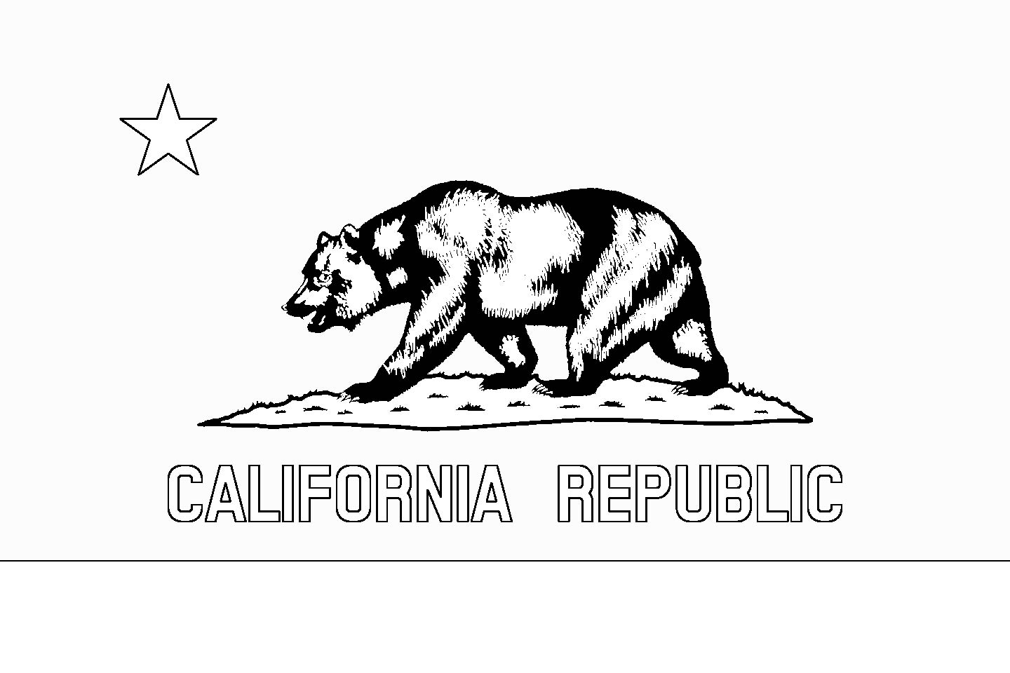 Download California State Flag Line Drawings JPG