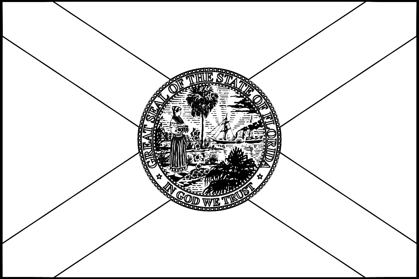 Florida flag coloring page coloring pages for Florida flag coloring page
