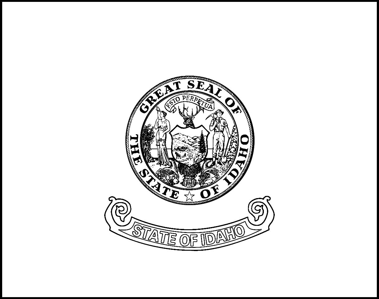 Missouri State Flag Coloring Page Flag Idaho Flag Coloring Printabl