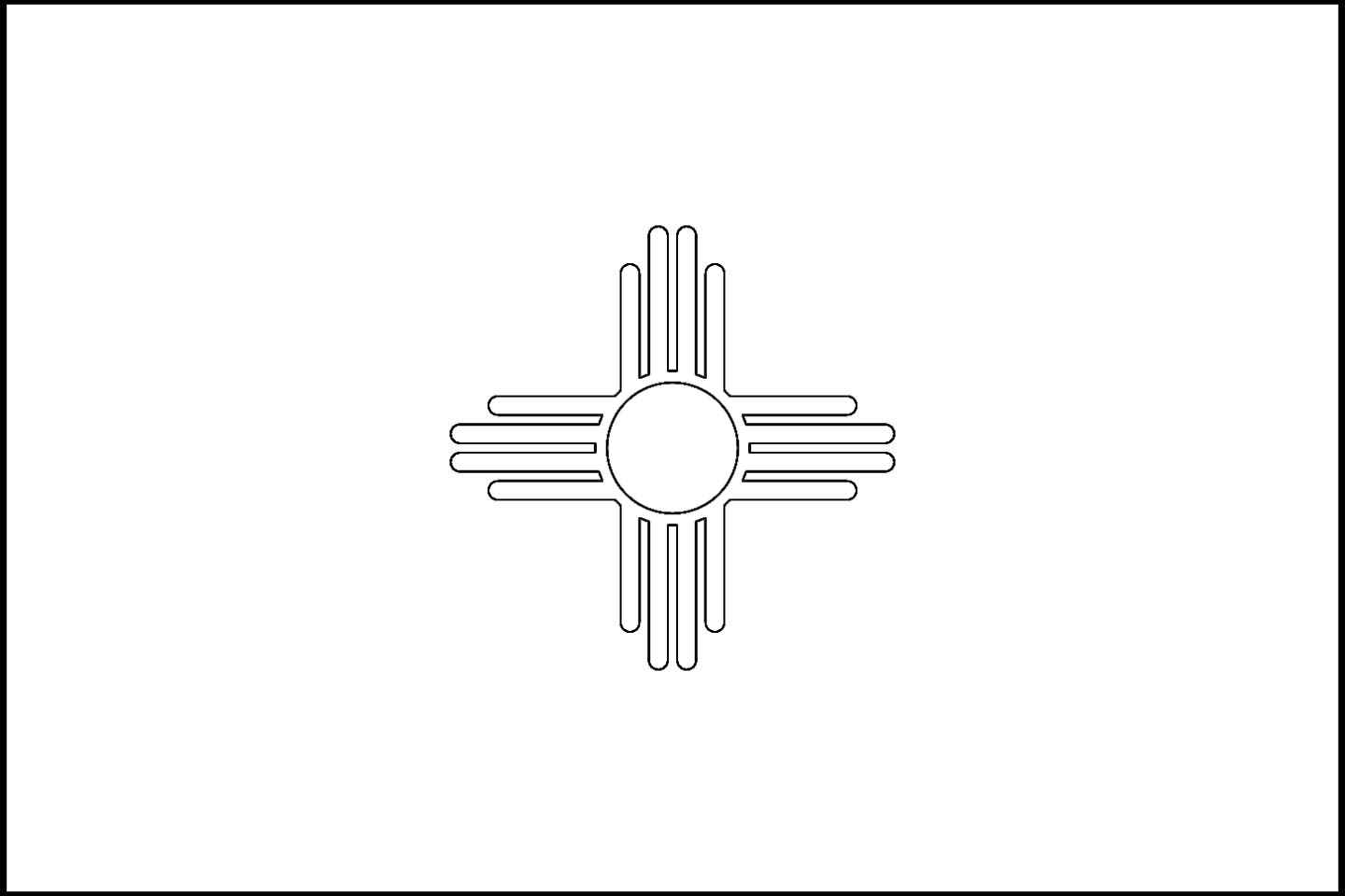 new mexico state flag coloring page new mexico state flag