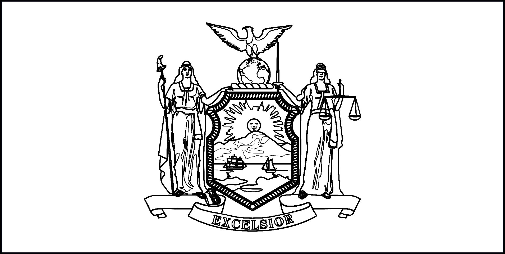 download new york state flag line drawings jpg