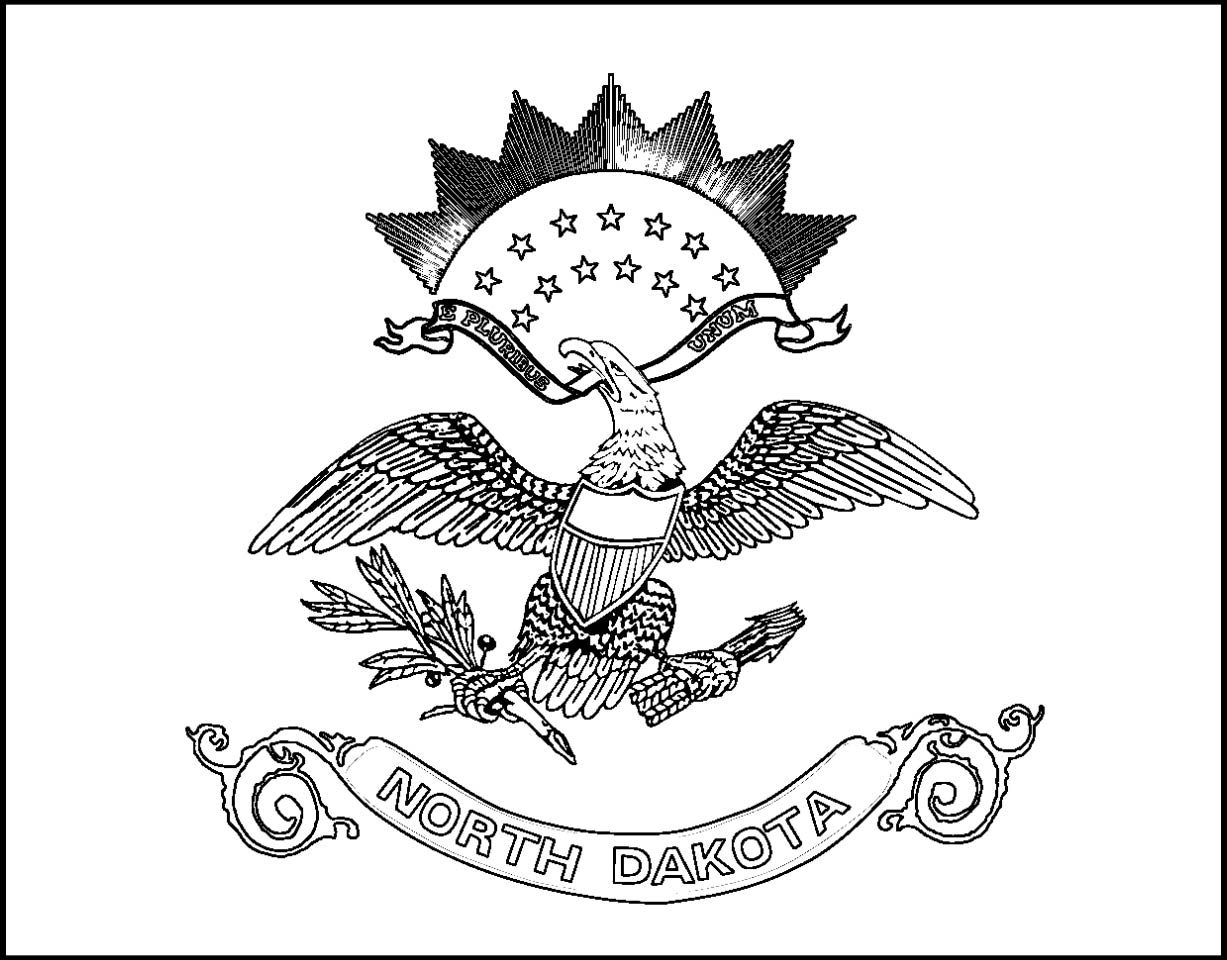 North dakota state flag for North dakota state flag coloring page