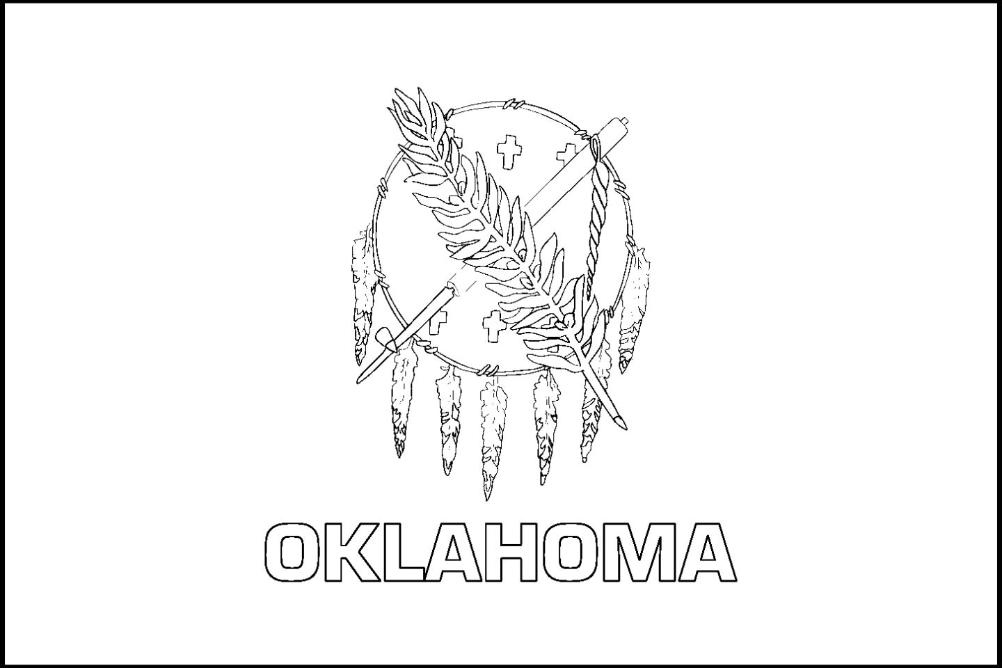 coloring pages oklahoma state flag - photo#9