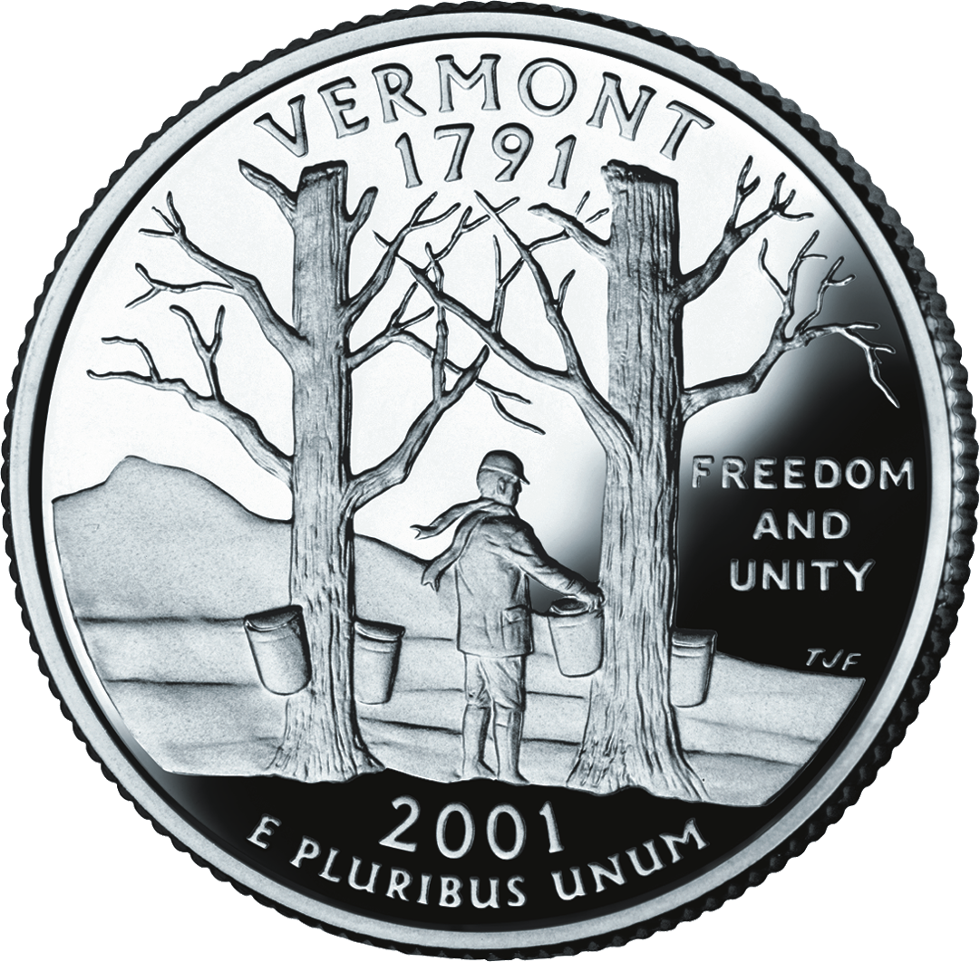 Vermont State Quarters - Us State Quarter Map